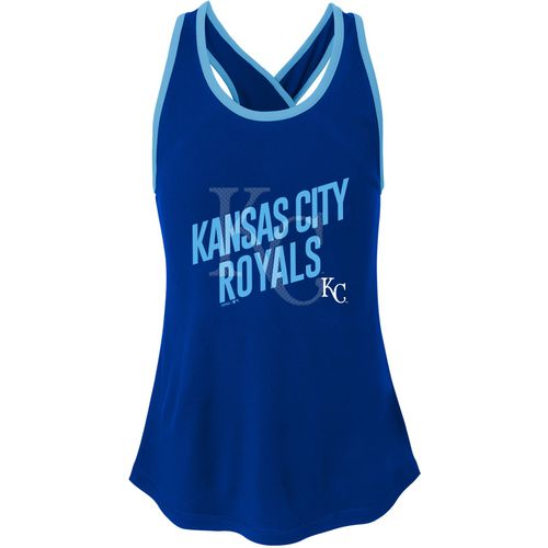 MLB Girls' Kansas City Royals Clutch Crossback Tank Top - view number 2
