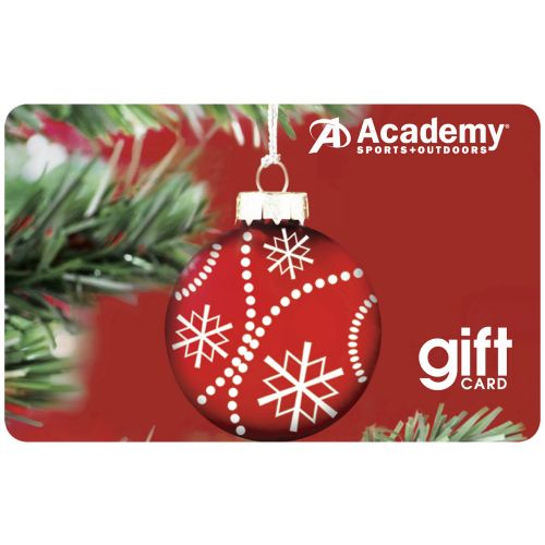 Academy Holiday Gift Card -Red Ornament Design