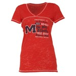 Step Ahead Blue 84 Women's Ole Miss Bo V-neck T-shirt