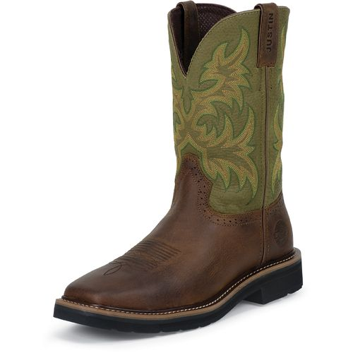 Display product reviews for Justin Men's Waxy Cowhide Western Work Boots