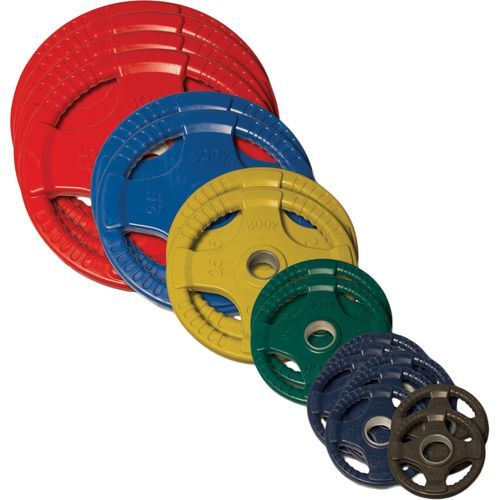 Body-Solid 355 lb. Colored Rubber Grip Olympic Plate Set - view number 1