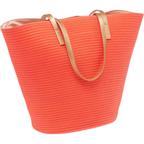 O'Rageous® Women's Metallic Strap Straw Tote