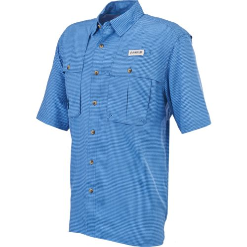 Magellan outdoors men 39 s aransas pass short sleeve gingham for Mens fishing shirts