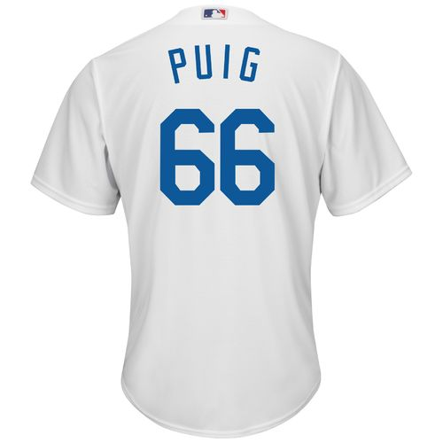 Majestic Men's Los Angeles Dodgers Yasiel Puig #66 Cool Base Replica Jersey