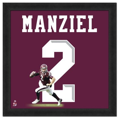 Photo File Texas A&M University Johnny Manziel #2 UniFrame 20' x 20' Framed Photo