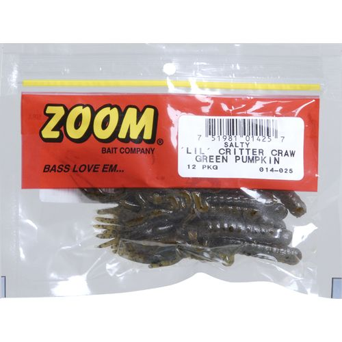 Zoom Lil Critter Craw 3-1/4' Trailers 12-Pack