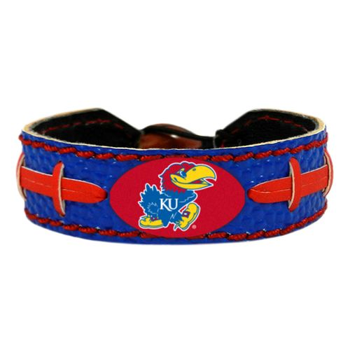GameWear University of Kansas Team Color Football Bracelet