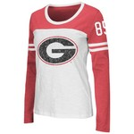 Colosseum Athletics Women's University of Georgia Hornet Long Sleeve Football T-shirt