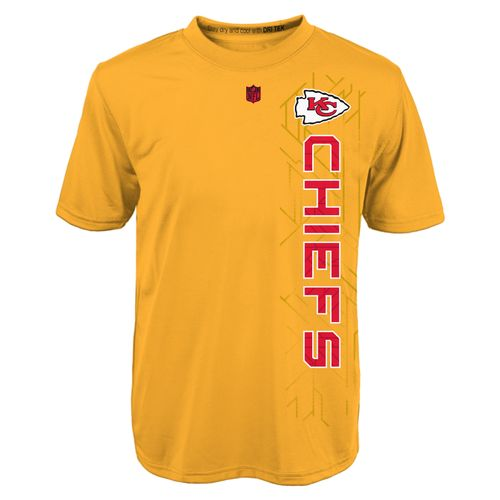 NFL Boys' Kansas City Chiefs Vertical Grid Alternate Dri-Tek T-shirt