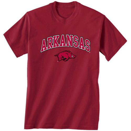 New World Graphics Men's University of Arkansas Arch Mascot T-shirt