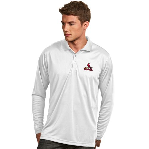 Antigua Men's St. Louis Cardinals Exceed Long Sleeve Polo Shirt
