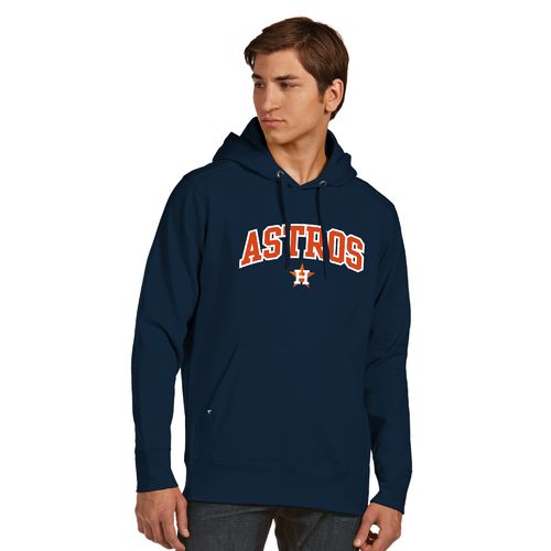 Antigua Men's Houston Astros Signature Pullover Hoodie - view number 1
