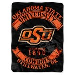The Northwest Company Oklahoma State University Rebel Raschel Throw - view number 1
