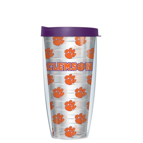 Signature Tumblers Clemson University 22 oz. Repeated Pattern Traveler Insulated Tumbler
