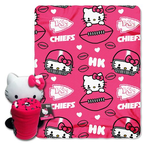 The Northwest Company Kansas City Chiefs Hello Kitty Hugger and Fleece Throw Set
