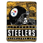 The Northwest Company Pittsburgh Steelers Stacked Silk Touch Throw
