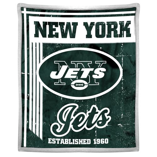 The Northwest Company New York Jets Old School Mink with Sherpa Throw
