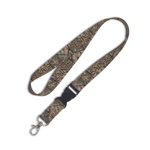 WinCraft New Orleans Saints Camo Lanyard with Detachable