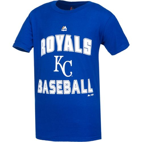 Majestic Boys' Kansas City Royals Team Arch Short Sleeve T-shirt