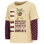 Colosseum Athletics Toddler Girls' Texas State University Super Cool Layered T-shirt