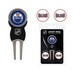 Team Golf Edmonton Oilers Divot Tool and Ball Marker Set - view number 1