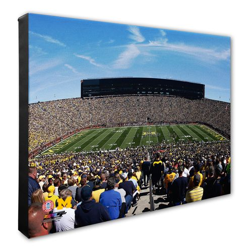 Photo File University of Michigan Stadium Stretched Canvas Photo