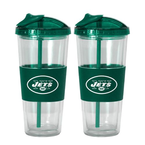 Boelter Brands New York Jets 22 oz. No-Spill Straw Tumblers 2-Pack