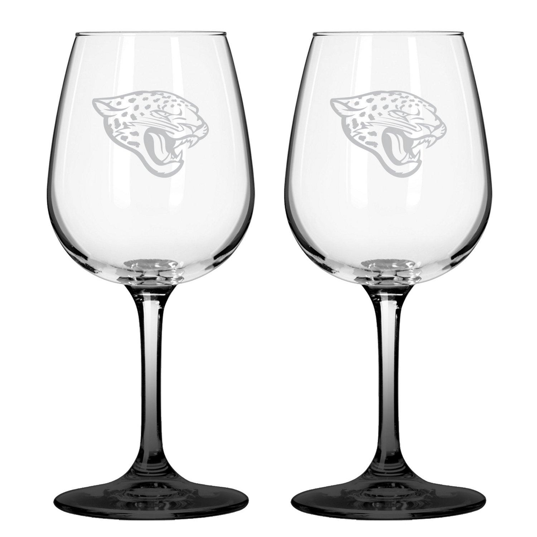 Boelter Brands Jacksonville Jaguars 12 oz. Wine Glasses