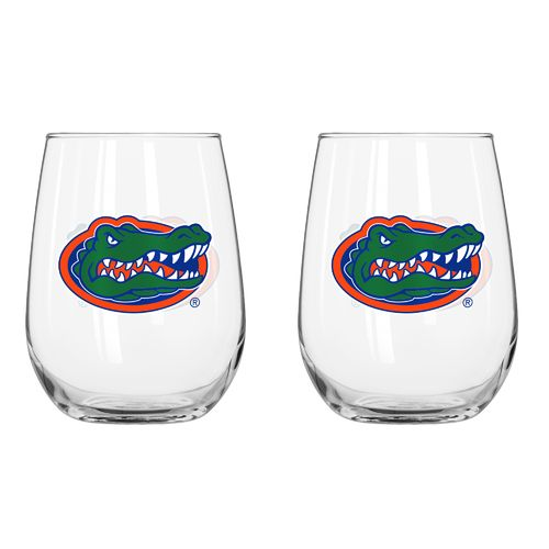 Boelter Brands University of Florida 16 oz. Curved Beverage Glasses 2-Pack