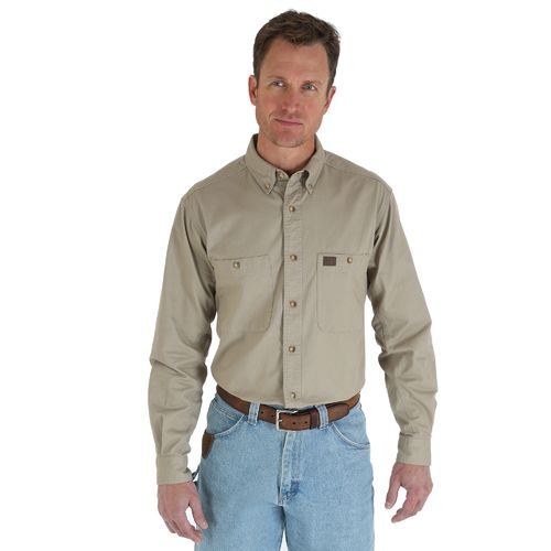 Wrangler Men's Riggs Workwear Twill Button Down Work Shirt