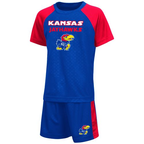 Colosseum Athletics Toddler Boys' University of Kansas Gridlock Set