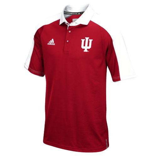 adidas™ Men's Indiana University Sideline Polo Shirt