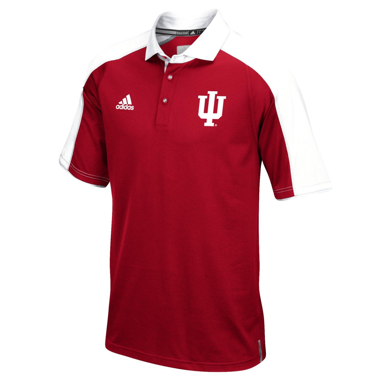 adidas™ Men's Indiana University Sideline Polo Shirt