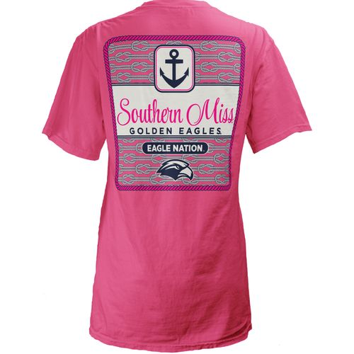 Three Squared Juniors' University of Southern Mississippi Knotty Tide T-shirt