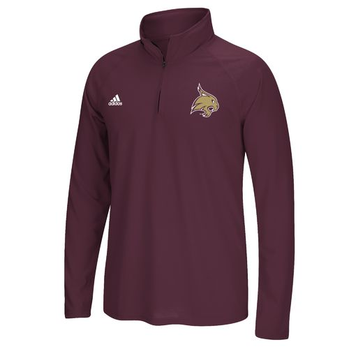 adidas™ Men's Texas State University climalite® Ultimate 1/4 Zip Pullover