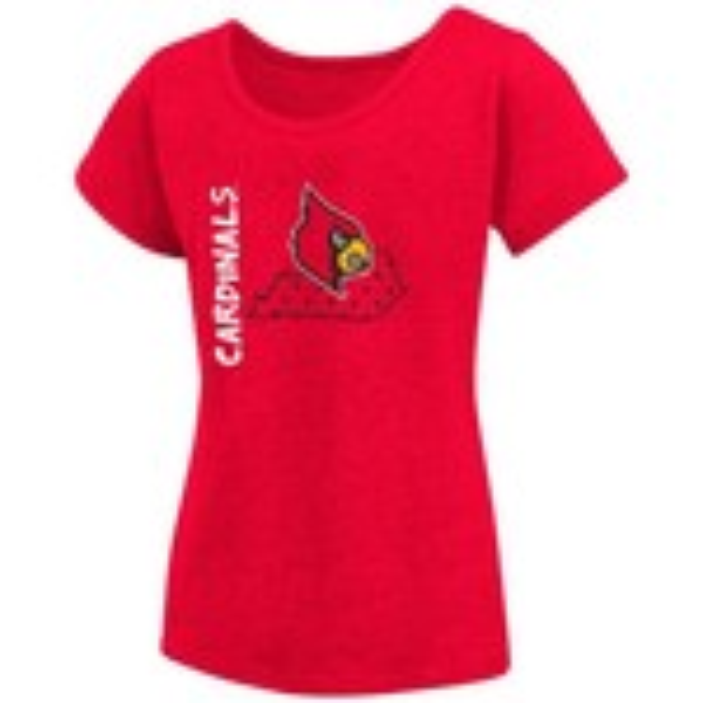 Colosseum Athletics Girls' University of Louisville T-shirt