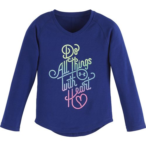 Under Armour® Girls' Do All Things With Heart Long Sleeve T-shirt