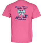 Blue 84 Women's University of Notre Dame Bow Tie Overdyed T-shirt