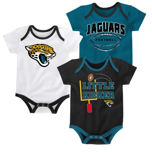 NFL Infants' Jacksonville Jaguars 3 Points 3-Piece Bodysuit Set