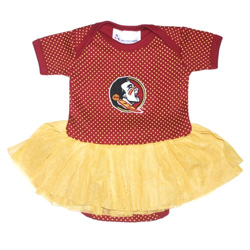 Two Feet Ahead Infant Girls' Florida State University Pin Dot Tutu Creeper