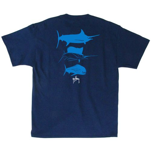Guy Harvey Men's 3 Predators Short Sleeve Pocket T-shirt