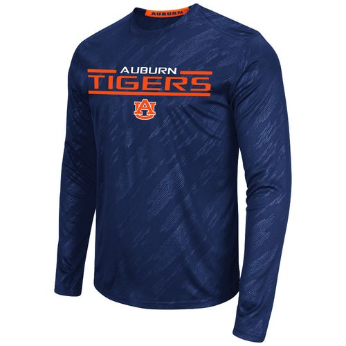 Colosseum Athletics™ Men's Auburn University Sleet Embossed Long Sleeve T-shirt