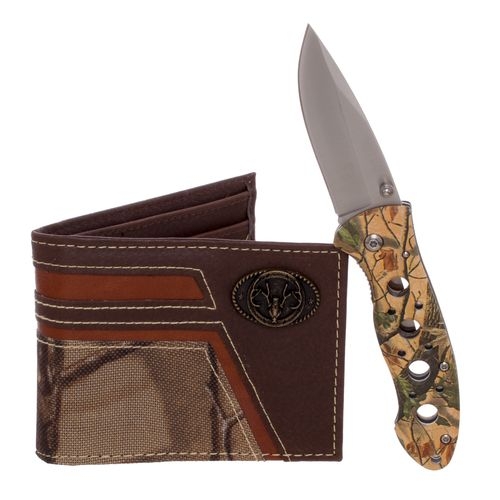 Display product reviews for Magellan Outdoors Men's Bifold Wallet and Folding Knife Set