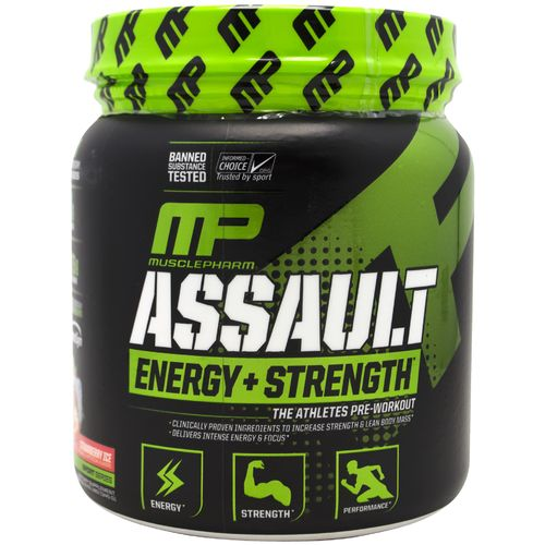 MusclePharm Assault Sport Strawberry Ice Preworkout Powder - view number 1