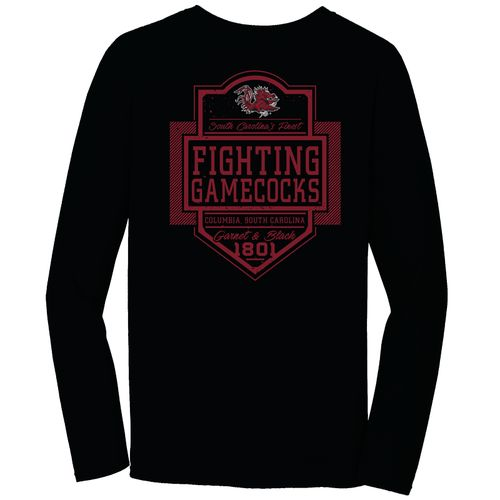Image One Men's University of South Carolina Finest Shield Comfort Color Long Sleeve T-shirt