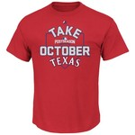 Majestic Men's Texas Rangers Take October 2016 Postseason T-shirt - Big and Tall