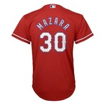 Majestic Boys' Texas Rangers Nomar Mazara #30 COOL BASE® Jersey - view number 1