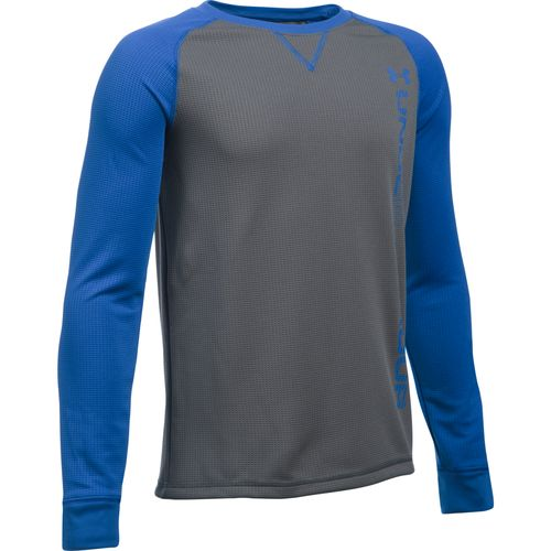 Under Armour™ Boys' ColdGear® Waffle Crew Shirt