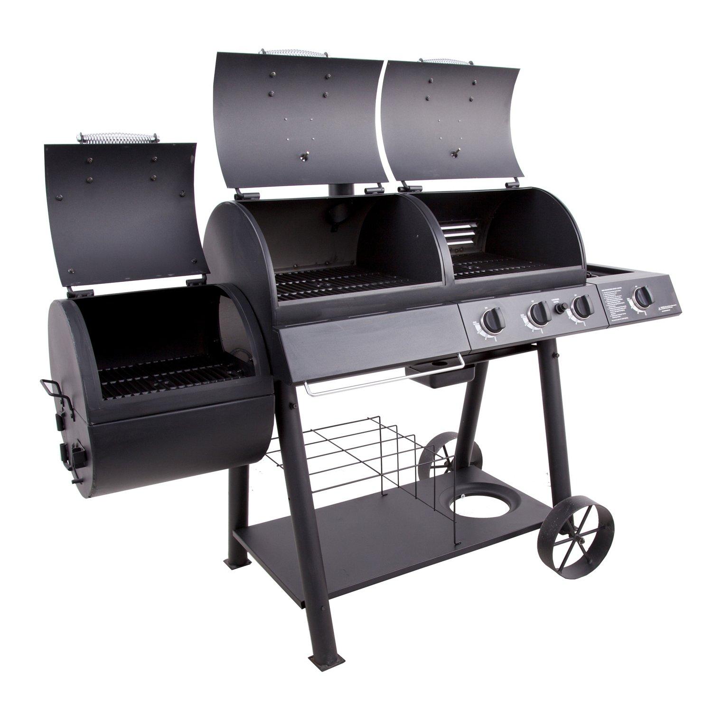 Oklahoma joe 39 s longhorn combo grill and smoker academy for Joes bbq smoker