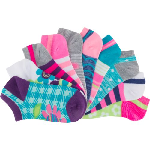 BCG Girls' Summer Icons No-Show Socks 10 Pairs - view number 3